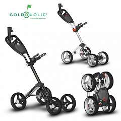 Golfoholic 4-Wheel Golf Trolley