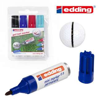 edding Golf Ball Marker 4er Set