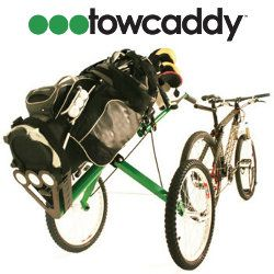 TowCaddy Golf Cart Fahrrad Trailer